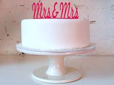 Mrs & Mrs Civil Partnership / Lesbian Wedding by MissSarahCake, $21