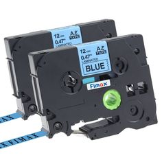 """Fimax 2 pack Compatible Brother TZe-531 TZe531 P-touch Label Tape 12mm 1/2 Inches (0.47"""") Black on Blue Standard Laminated Tape TZ-531"""