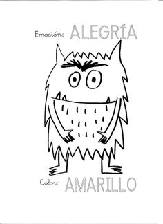 Coloring Page 2018 for Monstruo Colorear, you can see Monstruo Colorear and more pictures for Coloring Page 2018 at Children Coloring. Emotions Preschool, Preschool Art, Preschool Activities, Art Books For Kids, Spanish Colors, Teacher Must Haves, Monster Book Of Monsters, Elementary Spanish, Math Work