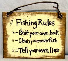 You don't always have to buy your lumber for your woodworking projects. Fishing Signs, Fishing Humor, Rustic Signs, Wooden Signs, Pallette Furniture, Gone Fishing, Fishing Life, Hunting Signs, Birthday Poems