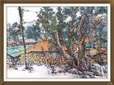 Illustrator/일러스트, brush painting/붓펜화, 강전충(kang c c), korea painting