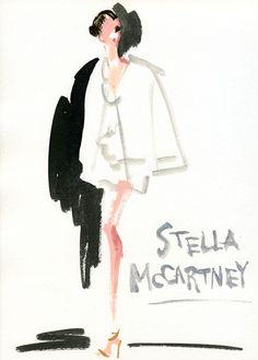 """""""Stella McCartney: Spring 2012 RTW""""  リアルクローズ感が持ち味(とはいえハードル高いけど)のステラ・マッカートニーのショウは、ランウェイのモデルも何だか親しみやすく感じます。バックステージのミランダ・カー(Miranda Kerr)がおちゃめで可愛い!"""