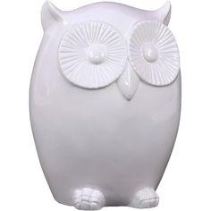 Urban Trends Ceramic Owl LG Gloss White | AllModern