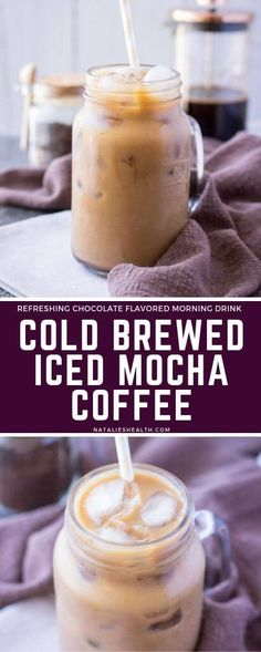 This Iced Mocha Latte is a perfect morning drink. It's smooth, bold, and chocola… This Iced Mocha Latte is a perfect morning drink. It's smooth, bold, and chocolatey. Deliciously refreshing iced coffee made with cold brewed coffee. Brownie Desserts, Oreo Dessert, Mini Desserts, Dessert Recipes, Cake Recipes, Pavlova, Chocolate Flavors, Chocolate Recipes, Iced Mocha Coffee