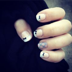 French Tip Bows & Upper East Side from Jamberry Nails!
