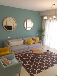 3 Ethnic Decorations that will Spice Up Your Home # Design Living Room Decor Colors, Living Room Sofa Design, Home Room Design, Cozy Living Rooms, Colourful Living Room, Home Living Room, Home Interior Design, Living Room Designs, Room Colors