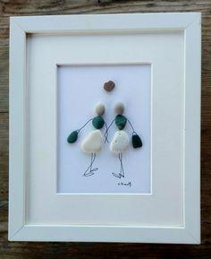 Pebble art friends Friends gift Sisters gift by pebbleartSmiljana