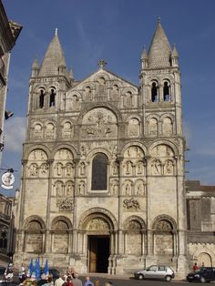 ROMANESQUE ARCHITECTURE, France - Angoulême cathedral, 1130. Angoulême cathedral is the first example of a church the its facade entirely covered with sculpture and reliefs.