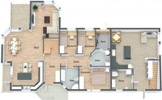 YES OR NO -- Is the bike parked in the right place?   Crate and Barrel, Ashley Furniture HomeStore, Ride Schwinn: http://www.roomsketcher.com/products/overview/  3D floor plan with aerial view for single family home with front entry & deck designed in RoomSketcher Business Edition by Janne Beate Gronholt Mykkeltveit  #floorplans #contractors #homebuilders