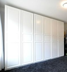 Ikea pax birkeland  PAX Wardrobe with 4 doors, white, Birkeland glass/white Birkeland ...