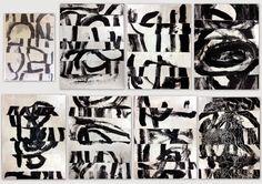 les petites têtes de l'art: Peinture et collage à la manière de Cecil Touchon