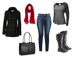 winter outfit by liliana-vaccara on Polyvore featuring moda, LE3NO, Levi's, Avenue, Buxton and Roffe Accessories