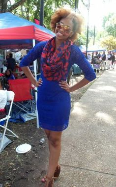 Ole Miss Football Blue home game day color Oct. 4, 2014 Ole Miss vs Alabama