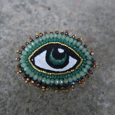 Eye Broche Lysegrøn