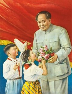 Mao Gets Flowers