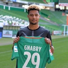 Werder Bremen's new signing Serge Gnabry unveiled to the public
