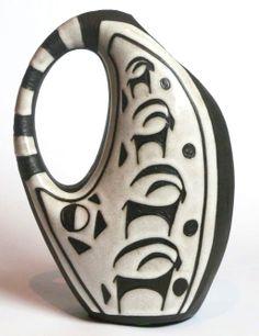 NEGRO series gazelle  jug designed by Marianne Starck for Michael Andersen  Son, 1950s  #danishpottery