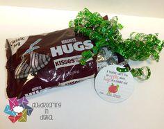 Digital File - Teacher HUG Tags- Instant Download on Etsy, $2.00