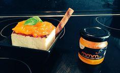 Tarta de queso con mermelada mango málaga (mango_mmm...) y zumo de limón. Minichef: Antonio Toré Marín. Málaga