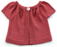 Ravelry: Kina (short+ long sleeved version) pattern by Muriela This is cute. Even though the pattern costs Diy Tricot Crochet, Knit Or Crochet, Crochet For Kids, Crochet Baby, Knitting For Kids, Baby Knitting Patterns, Knitting Yarn, Hand Knitting, Knit Baby Sweaters