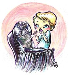 Items similar to Original Art Rosemary's Baby One of A Kind on Etsy Rosemary's Baby, Horror Movies, Digital Prints, Eye Candy, Original Art, Goth, Creative, Illustration, Artist