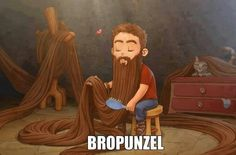 This is totally fake, no guy would take the time to brush his beard