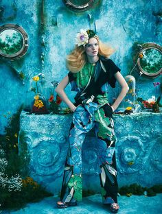 Tutte In Fiore: Luisa Bianchin By Sandrine Dulermo And Michael Labica For Glamour Italia April 2015 #Spring #floral