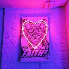 Imagem de neon, pink, and light