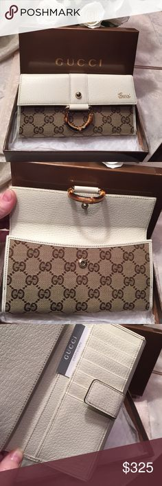 NWT Gucci wallet Gorgeous and a wish come true wallet.  Classic and you will keep this forever 💕 Gucci Bags Wallets