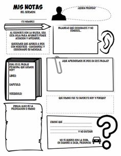 Sermon notes for kids! One of the best ways to help kids