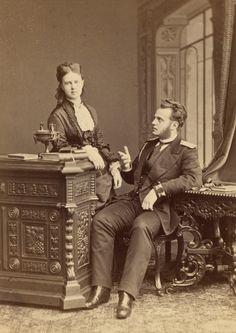 Grand Duchess Maria Alexandrovna and brother Grand Duke Alexei of Russia