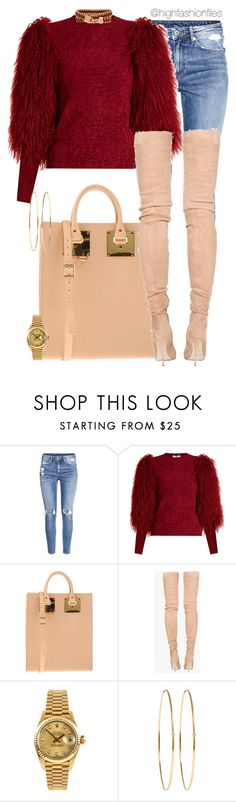 """""""Ugly Christmas Sweater"""" by highfashionfiles ❤ liked on Polyvore featuring H&M, Sonia Rykiel, Sophie Hulme, Balmain, Rolex, Jennifer Meyer Jewelry and Henri Bendel"""
