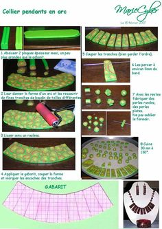 How to plan out a collar necklace #Polymer #Clay #Tutorials