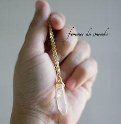 Crystal Wand QuarzHalskette klare Quarzkristall von femmesdumonde