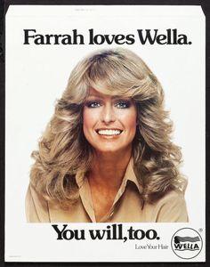 Farrah Fawcett shampoo ad.