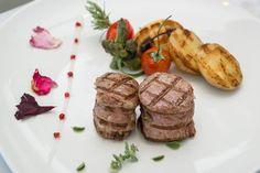JMediterranean flavors at Alazonia Restaurant Restaurant Bar, Baked Potato, Menu, Baking, Ethnic Recipes, Food, Menu Board Design, Bakken, Essen