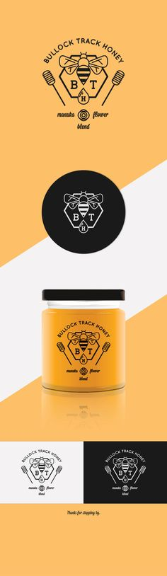 Bullock Track Honey. Logo for a New Zealand based manuka flower blend of honey.