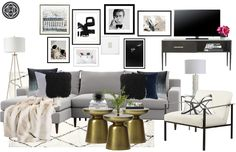 Contemporary, Modern, and Glam Living Room by Havenly