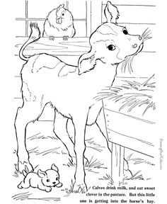 farm animal coloring pages | these free printable farm animal coloring pages provide hours of ...