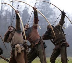 The longbowmen, the most powerful English weapon during the Medieval Ages. French can tell it.