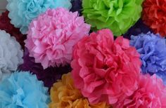 Large Hanging Party Poms- Set of 3! 38% off at Groopdealz
