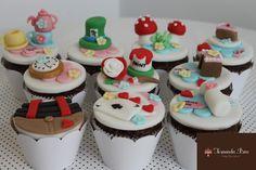 Cupcakes, decoração em 3D