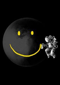 """Make a Smile"" art print by Carbine"
