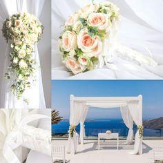 recznie robione dekoracje ślubne Santorini, Table Decorations, Furniture, Instagram, Home Decor, Decoration Home, Room Decor, Home Furnishings, Home Interior Design