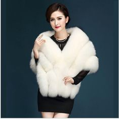 Luxury Faux Fox Fur Shawl – Go Steampunk Fur Fashion, Fashion Outfits, Faux Fur Stole, Winter Fur Coats, Make Your Own Dress, Fur Collars, Coats For Women, Marie, Dresses With Sleeves