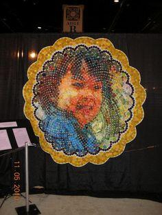yo-yo mosaic portrai