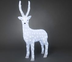 Konstsmide Acrylic 105cm Standing Reindeer with 160 White LED Lights