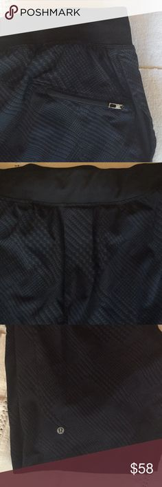"""lululemon men's shorts Lululemon men's Luxtreme Liner 9"""".  Beautiful gray - black fabric. Only worn once - excellent t condition, tag in back has been cut out as shown in photo lululemon athletica Shorts Athletic"""