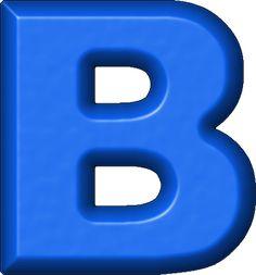 Letras em PNG alfabeto azul moldes - Alfabetos Lindos