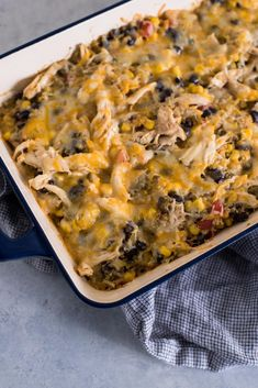Four Can Mexican Casserole is an easy Mexican casserole recipe you& going to want to try. The four cans contain corn, tomatoes, green chilies, and beans. Mexican Dishes, Mexican Food Recipes, Mexican Meals, Spanish Dishes, Ethnic Recipes, Mexican Chicken Casserole, Slow Cooker Times, Casserole Recipes, Casserole Dishes